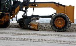 Beach Maintenance. Royalty Free Stock Photos