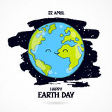 22 April. Happy Earth Day Royalty Free Stock Image