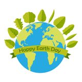 22 April Happy earth day vector design illustration. Happy earth day concept background card Stock Photography