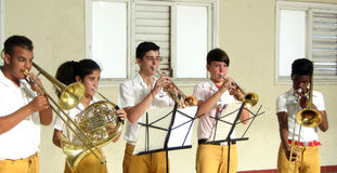 Havana youth musicians. Royalty Free Stock Images