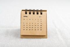 april Het blad van de kalender Royalty-vrije Stock Foto