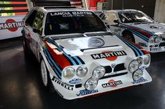 21 April 2018: Historic Lancia Delta S4 Gruppo B exposed during Motor Legend Festival 2018 at Imola Circuit. In Italy royalty free stock photos