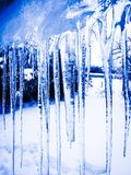 April Icicles Foto de archivo