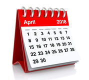 April 2018 Kalender Stockbild