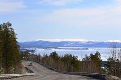 April.kandalaksha bay. Landscape;russia;kola;peninsula;;april;spring Royalty Free Stock Images