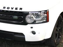 25 april, 2015 Kiev, de Oekraïne; Landwaaier Rover Discovery 4 stock fotografie