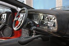 April 12, 2016; Kiev, Ukraine; Jaguar XJ220. Car interior luxury service. Car interior details royalty free stock photo