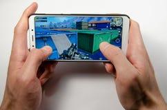 April, 2019. Kramatorsk, Ukraine. Mobile application ans games royalty free stock photography