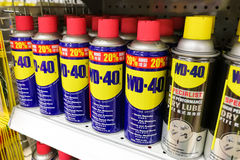 April 4, 2017, KUALA LUMPUR, MALAYSIA - WD-40 is the trademark name of Stock Images
