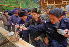 Dorffeiertag im Südwesten China. Lizenzfreie Stockfotografie