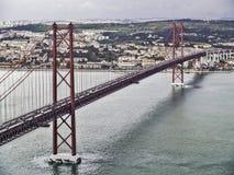 April 25 Lisbon bridge stock images