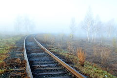 April mists. Early in the morning dense fog fell on roads Altaya Royalty Free Stock Photo
