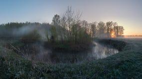April morgon Arkivfoton
