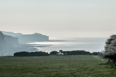 April Morning and Belle Tout Royalty Free Stock Photos