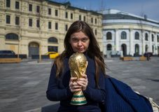 Trophy of the FIFA World Cup stock photo