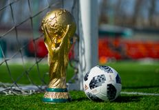 Trophy of the FIFA World Cup royalty free stock photo
