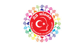April 23 National Sovereignty and Children's Day. Ataturk in April 23 1920, the feast where all the children as a gift. April 23 Children's Day Royalty Free Stock Photography
