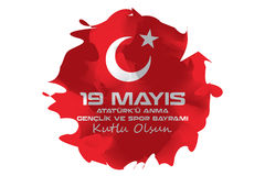 April 23 nationell suveränitet och barns dag för åminnelse och för ungdom och för sportar för rk för DayMay 19 Atatà ¼ royaltyfria foton