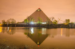 April 2015 - Panoramic view of the Pyramid Sports Arena in Memph Royalty Free Stock Photography