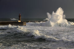 April in Portugal - Waves Royalty Free Stock Image