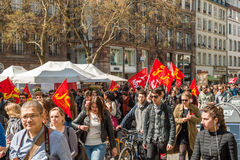 April protest against Labour reforms in France Stock Photos