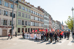 April protest against Labour reforms in France Royalty Free Stock Images