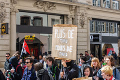 April protest against Labour reforms in France Stock Image