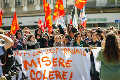 April protest against Labour reforms in France Royalty Free Stock Photos
