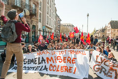 April protest against Labour reforms in France Royalty Free Stock Photo