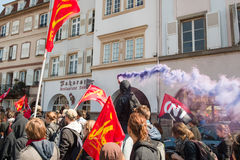 April protest against Labour reforms in France Stock Photography