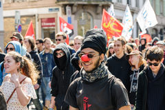 April protest against Labour reforms in France Stock Images