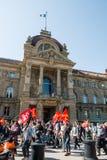 April-Protest gegen Arbeitsreformen in Frankreich Stockfotos