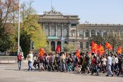 April-Protest gegen Arbeitsreformen in Frankreich Stockbilder
