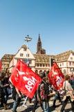 April-Protest gegen Arbeitsreformen in Frankreich Lizenzfreie Stockbilder