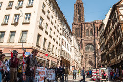 April-Protest gegen Arbeitsreformen in Frankreich Lizenzfreie Stockfotos