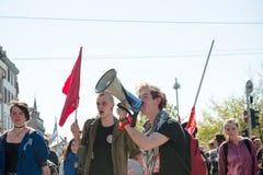 April-Protest gegen Arbeitsreformen in Frankreich Lizenzfreie Stockfotografie