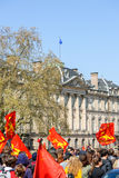 April protest mot Labour reformer i Frankrike Royaltyfri Fotografi