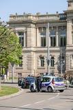 April protest mot Labour reformer i Frankrike Arkivfoto