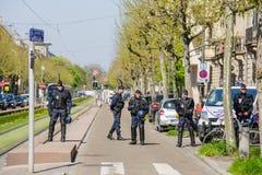 April protest mot Labour reformer i Frankrike Arkivfoton