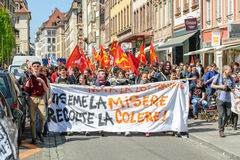 April-protest tegen Arbeidshervormingen in Frankrijk Royalty-vrije Stock Foto's