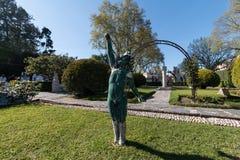 April 3rd, 2017, Coimbra, Portugal - Portugal DOS Pequenitos parkerar Arkivbild