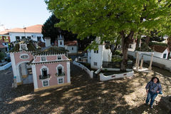 April 3rd, 2017, Coimbra, Portugal - Portugal DOS Pequenitos parkerar Arkivfoto