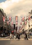 April 2018 Regent Street, Londen het UK royalty-vrije stock afbeeldingen