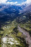 APRIL 27, 2017 RIDGWAY COLORADO - Aerial of San Juan Mountain Range looking down State Route 550.  Photography, Aerial - Nature. APRIL 27, 2017 RIDGWAY COLORADO Stock Images