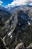 APRIL 27, 2017 RIDGWAY COLORADO - Aerial of San Juan Mountain Range between Ridgway and Telluride.  Non-Urban Scene,  Landscape. APRIL 27, 2017 RIDGWAY COLORADO Royalty Free Stock Image