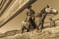 APRIL 22, 2017, RIDGWAY COLORADO: Cowboys  Stock Photo