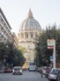 19 april 2018, Rome, via allaen Stazione, St, peterskupol av Vatic Royaltyfri Foto