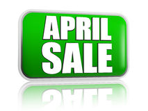 April sale green banner Royalty Free Stock Photos