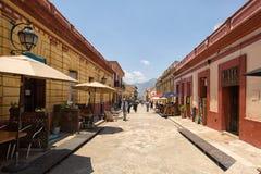 San Cristobal de las Casas Mexico street view. April 14, 2014 San Cristobal de las Casas, Mexico: street view of the historic colonial center royalty free stock images