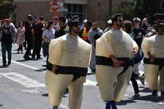 The 107th annual Bay to Breakers, 2018 event participants, 37. stock photo